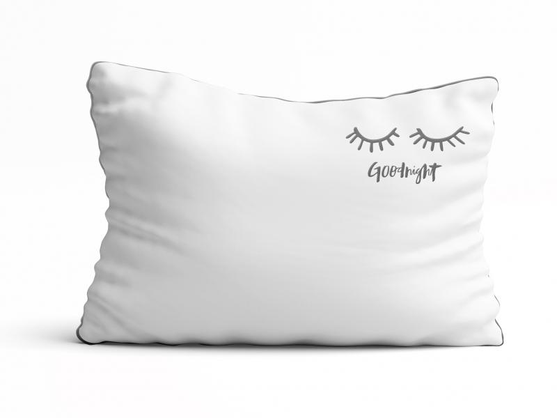 Poszewka na poduszkę z haftem Good night