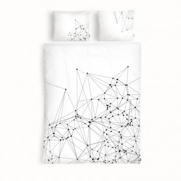 Czarno-biała pościel z wzorem konstelacji