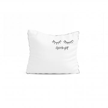 Poduszka biała z naturalnej tkaniny bawełnianej